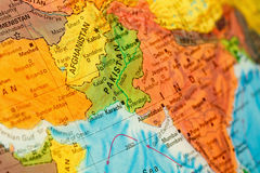 Map of Pakistan and Afghanistan close-up Stock Photos