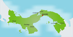 Map Panama Stock Photo