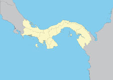 Map of Panama Stock Images