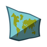 Map paper guide isolated icon Stock Photo