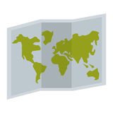 Map paper guide isolated icon Royalty Free Stock Photography