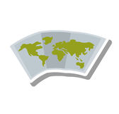 Map paper guide isolated icon Stock Images
