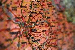 Map of Paris. Paris map. royalty free stock photography