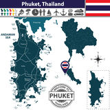 Map of Phuket Province, Thailand Royalty Free Stock Photo