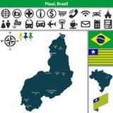 Map of Piaui, Brazil Stock Photo