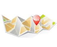 Map with pin Stock Photos