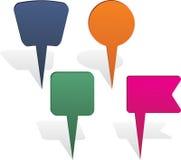 Map pin arrows set. Vector illustration Royalty Free Stock Image
