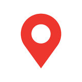 Map pin flat design style modern icon. Simple red pointer minimal vector symbol. Marker sign. Royalty Free Stock Photos