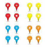 Map pin icon Royalty Free Stock Images