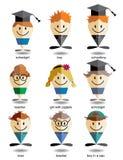 Map pin Icons Education Royalty Free Stock Photo