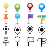 Map pin. This image is a vector illustration.Map pin Stock Images