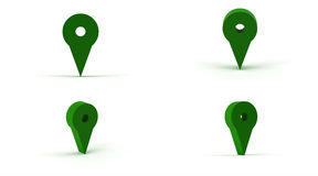 Map pin marker Stock Image