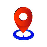 Map pin pointer icon. location symbol  Royalty Free Stock Photography