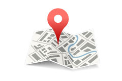 Map with pin Stock Photo