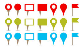 Map Pins Royalty Free Stock Photo