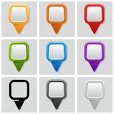 Map pins Royalty Free Stock Image