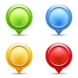 Map Pins Royalty Free Stock Photos