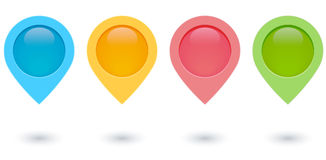 Map pins Royalty Free Stock Images