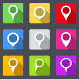 Map Pins Icons Stock Photos