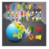 Map pins Stock Photo