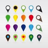 Map Pins, vector Royalty Free Stock Image