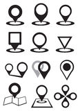 Map Pins Vector Icon Set Royalty Free Stock Images