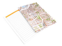 Map with a plan Royalty Free Stock Photo