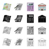 Map, plan, landmark, and other web icon in cartoon style.Office, realtor, purchase, icons in set collection. Map, plan, landmark, and other  icon in cartoon Royalty Free Stock Images