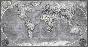 Map of planet earth Stock Photos