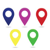 Map point set. Map points set icon location Royalty Free Illustration