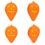 Map pointer as orange Halloween pumpkin set of creative markers. Map pointer as orange scary pumpkin as symbol of All Hallows eve, venue for Halloween party Royalty Free Stock Photography