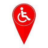 Map pointer Disabled Handicap Royalty Free Stock Photos