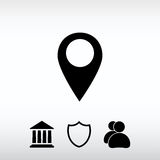 Map pointer flat icon, vector illustration. Flat design style Stock Photo