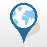 Map pointer icon great for any use. Vector EPS10. Royalty Free Stock Photo