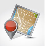 Map and pointer illustration design Royalty Free Stock Images