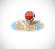 Map and pointer illustration design Stock Photos