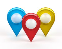 Map pointer isolated on white Stock Images