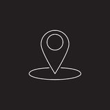 Map pointer line icon, outline vector logo Royalty Free Stock Photos