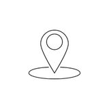 Map pointer line icon, outline vector logo Stock Photo
