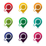 Map pointer pin. Set of icon pointer map pin with a wide variety of colors Royalty Free Stock Photos