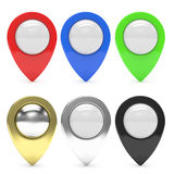 Map pointer set  isolated Stock Photo