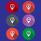 Map pointer Royalty Free Stock Photography
