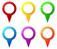 Map Pointers Royalty Free Stock Image