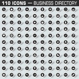 Map pointers icon set for business directory Stock Photography