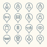 Map pointers icon set. Vector Illustration Stock Photo