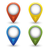 Map pointers Royalty Free Stock Photos
