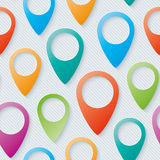 Map pointers walpaper. Stock Photo