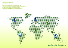 Map with pointers Royalty Free Stock Photography