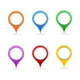 Map points Royalty Free Stock Photography