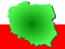 Map of Poland Stock Photos